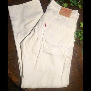 White Levi 501s